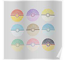 Eeveelution Pokeballs (Light) Poster