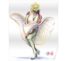 Undead Marilyn Monroe Poster