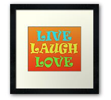Retro Live Laugh Love Framed Print