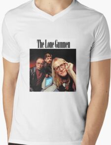 Lone Gunmen Mens V-Neck T-Shirt