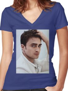daniel radcliffe Women's Fitted V-Neck T-Shirt