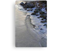 Frozen Shoreline Saint Clair 1 Canvas Print