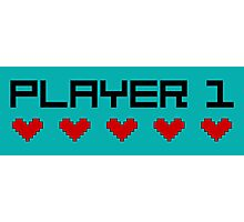 Player 1 Photographic Print