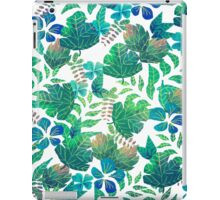 Painted Green Leaves iPad Case/Skin