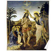 Leonardo da Vinci The Baptism of Christ Poster