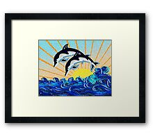 DOLPHIN SUNSET Framed Print