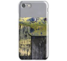 Yellow Dock Cleat on Frozen River iPhone Case/Skin