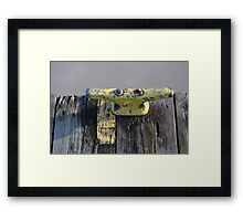 Yellow Dock Cleat on Frozen River Framed Print