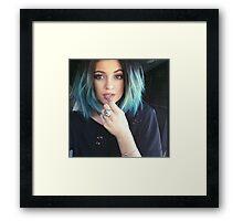 Kylie Jenner Blue Selfie Framed Print