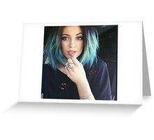 Kylie Jenner Blue Selfie Greeting Card