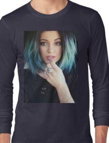 Kylie Jenner Blue Selfie Long Sleeve T-Shirt