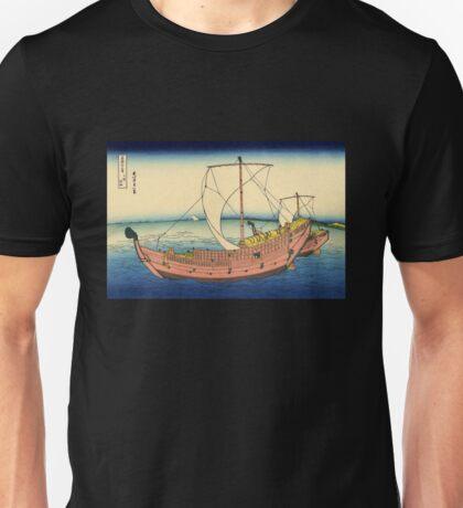 'The Kazusa Sea Route' by Katsushika Hokusai (Reproduction) Unisex T-Shirt
