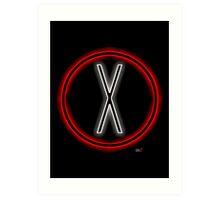 X light logo Art Print