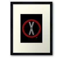 X light logo Framed Print