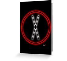 X light logo Greeting Card