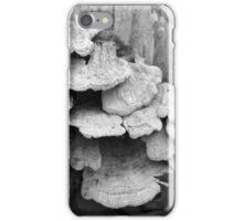 Fallen Birch with Fungi BW iPhone Case/Skin