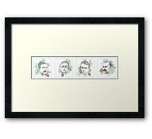 1916 commemorative print: 16 leaders 13-16 Framed Print