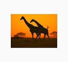 Giraffe Golden Run - African Wildlife Background Unisex T-Shirt