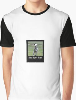 Dalmatian - See Spot Run Graphic T-Shirt