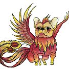 French Bulldog x Phoenix by Liddle-Ideas