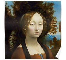 Leonardo da Vinci Ginevra de' Benci Poster