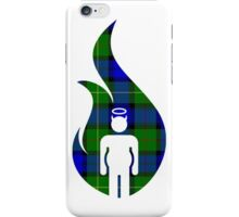 Blue and Green Beer Belly Mens Room iPhone Case/Skin