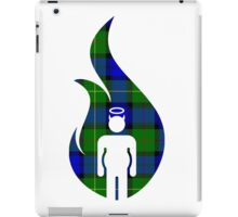 Blue and Green Beer Belly Mens Room iPad Case/Skin