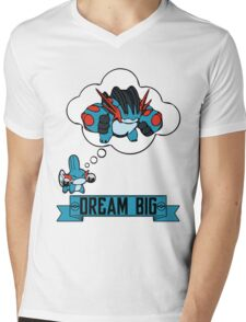 Mudkip Dream Big Mens V-Neck T-Shirt