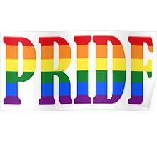 Printed LGBT Pride Lettering Poster