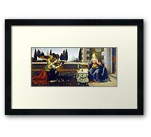 Leonardo da Vinci Annunciation Framed Print