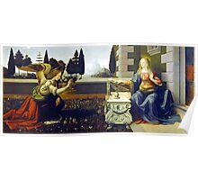 Leonardo da Vinci Annunciation Poster