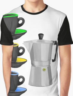 Moka Pot Stove Top Espresso Maker Graphic T-Shirt