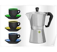 Moka Pot Stove Top Espresso Maker Poster