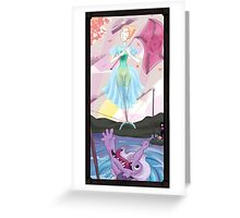 Haunted Universe - The Ballerina and THE CROCODIIILE Greeting Card