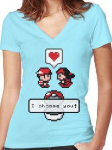 Pokemon Valentine I Choose You!  Women's Fitted V-Neck T-Shirt