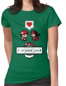 Pokemon Valentine I Choose You!  Womens Fitted T-Shirt