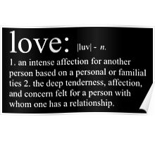 love definition - white Poster