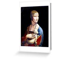 Leonardo da Vinci Lady with an Ermine Greeting Card