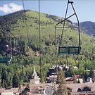 Ski Lifts, Taos Ski Resort, Summer View, Taos, New Mexico by lenspiro