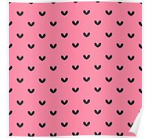 Rockabilly, punk pink and black retro hearts.  Poster