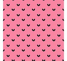 Rockabilly, punk pink and black retro hearts.  Photographic Print