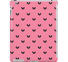 Rockabilly, punk pink and black retro hearts.  iPad Case/Skin