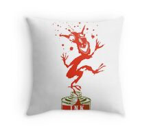 Red Ink Bottle Imp Throw Pillow