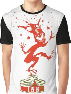 Red Ink Bottle Imp Graphic T-Shirt