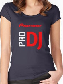 Pioneer Pro DJ Let's Party Like It's Steve Aoki Tis Tis Tis But A Scratch Daft Nuts Women's Fitted Scoop T-Shirt