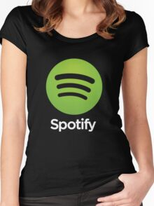 Napster (Original) Spotify Home Is Where The Wifi Is Not Listening Women's Fitted Scoop T-Shirt