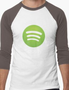 Napster (Original) Spotify Home Is Where The Wifi Is Not Listening Men's Baseball ¾ T-Shirt