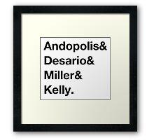 Freaks & Geeks Framed Print
