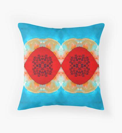 Blue Lagoon By Stephanie Burns Throw Pillow