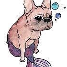 French Bulldog x Mermaid (purple) by Liddle-Ideas
